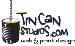 Tin Can Studios - Website Design and Graphic Design